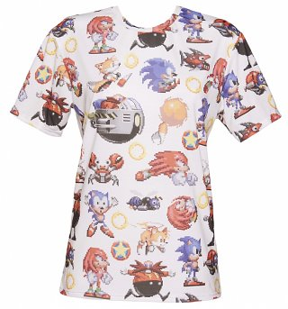 Unisex All Over Print Sonic The Hedgehog T-Shirt