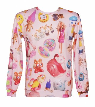 Unisex All Over Print Vintage Toys Sweater