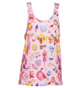 Women's All Over Print Vintage Toys Loose Fit Tank Vest