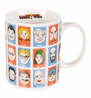 Boxed Guess Who Porcelain Mug