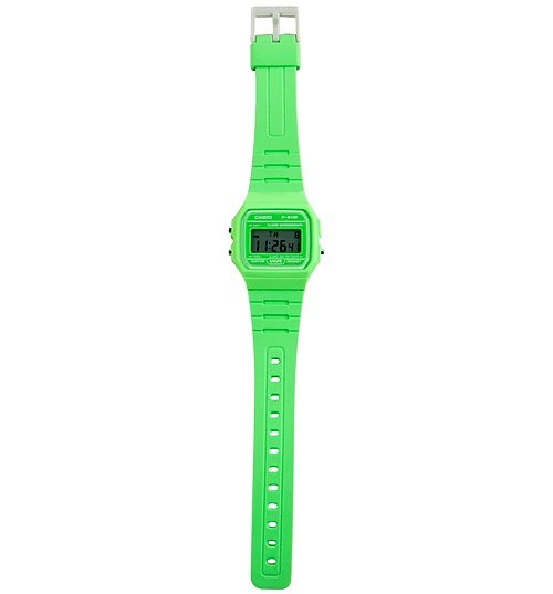Classic Retro Bright Green Watch F-91WC-3AEF from Casio
