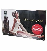 Coca-Cola Bathing Beauties Metal Sign
