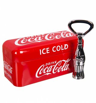 Classic Coca-Cola Bottle Opener In A Tin