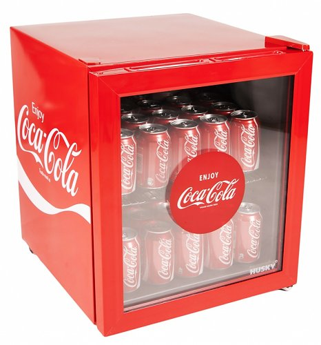 coca cola glass front mini fridge from husky. Black Bedroom Furniture Sets. Home Design Ideas
