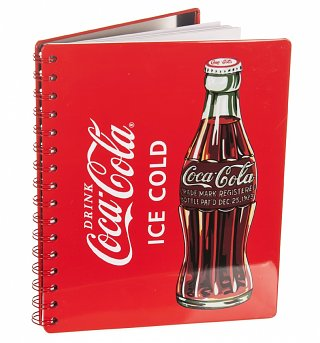 Coca-Cola Metal Backed Notebook