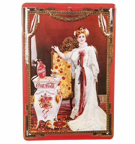 Coca-Cola Vintage Lady 20 x 30cm 3D Embossed Plaque