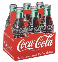Coca-Cola Wood Six Pack Sign