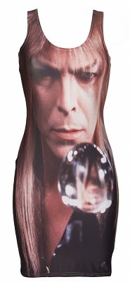 Women's Crystal Ball Bowie Labyrinth Body-Con Dress