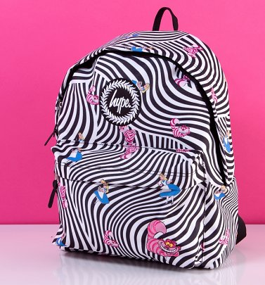 Disney Alice In Wonderland Striped Backpack from Hype