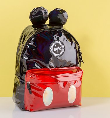 Disney Mickey Mouse Metallic Finish Backpack With Ears from Hype