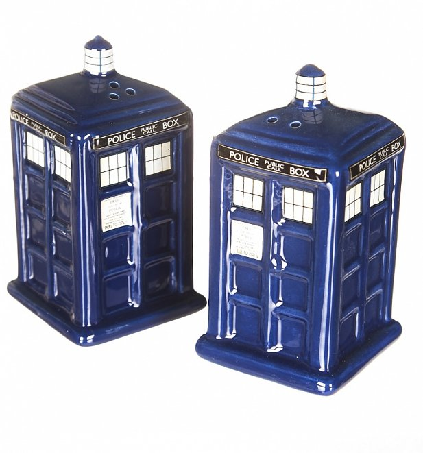 Doctor Who TARDIS Shaped Salt And Pepper Shakers