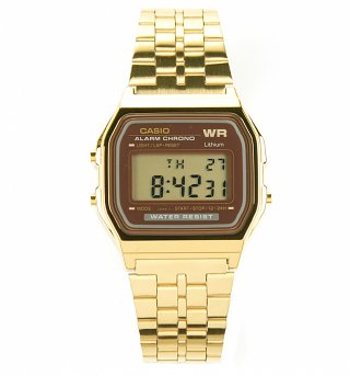 Gold Burgundy Face Digital Water Resist Watch A159WGEA-5EF from Casio