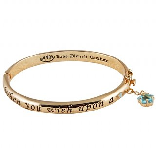 Gold Plated Pinocchio When You Wish Upon A Star Bangle from Disney Couture
