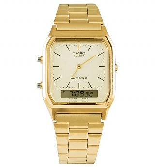 Gold Retro Dual Time Watch AQ-230GA-9DMQYES from Casio