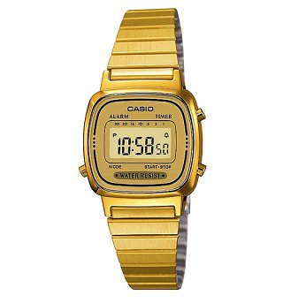 Gold Slimline Classic Watch LA670WEGA-9EF from Casio