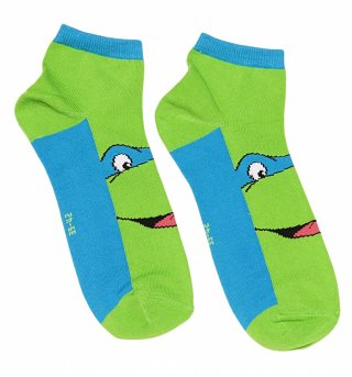 Green Teenage Mutant Ninja Turtles Leonardo Pair Of Trainer Socks