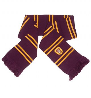 Harry Potter Magenta And Gold Gryffindor Scarf