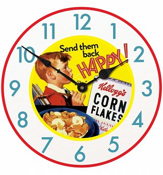 Kellogg's Cornflakes Happy Boy 30cm Clock