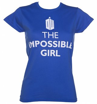 Women's Blue The Impossible Girl Doctor Who T-Shirt