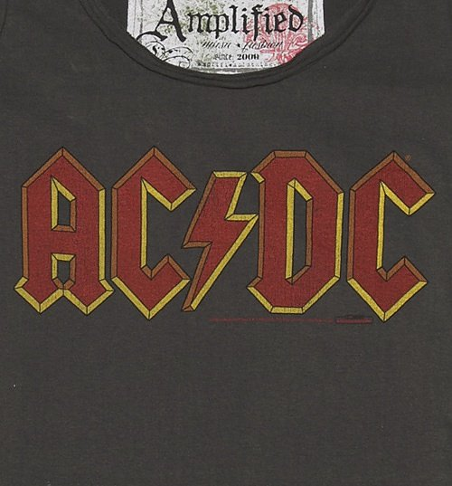 Women's Charcoal AC/DC Logo T-Shirt from Amplified