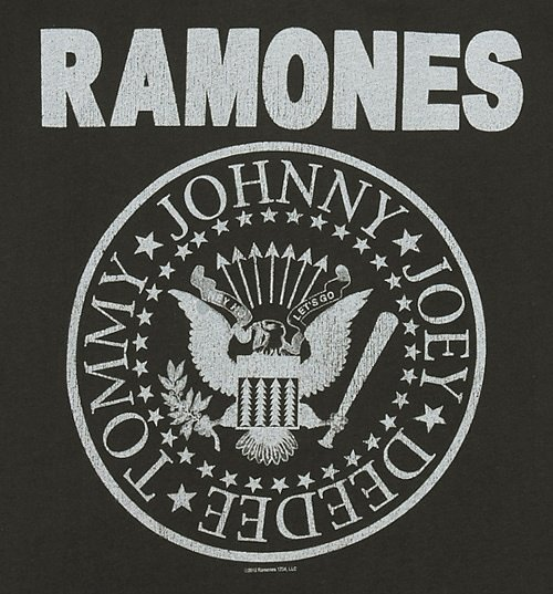 Women's Charcoal Classic Ramones Logo T-Shirt from Amplified