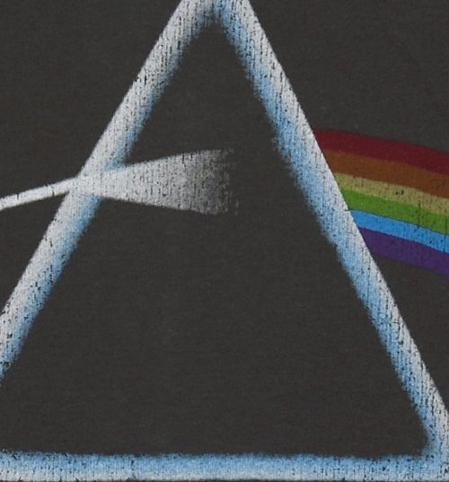 Women's Charcoal Pink Floyd Dark Side Of The Moon T-Shirt from Amplified