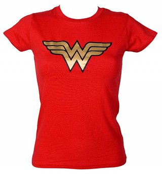 Women's Wonder Woman Gold Foil Logo T-Shirt from Urban Species