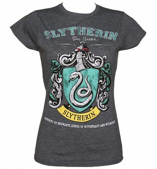 Women's Dark Heather Harry Potter Slytherin Team Quidditch T-Shirt