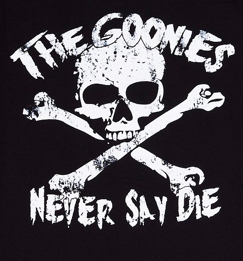 Women's Goonies Never Say Die T-Shirt