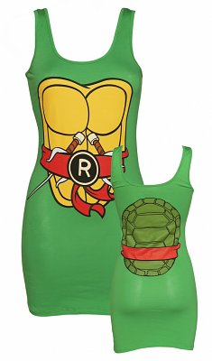 Women's Green Raphael Costume Teenage Mutant Ninja Turtles Vest Dress
