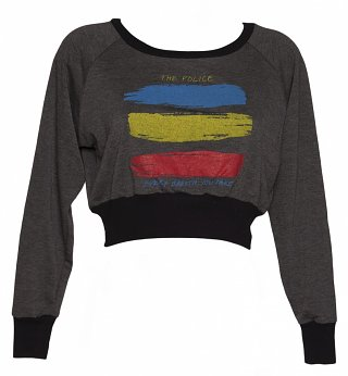 Women's Grey Marl The Police Every Breath Cropped Sweater from Dirty Cotton Scoundrels