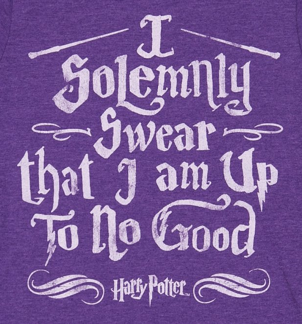 Women's Purple Harry Potter I Solemnly Swear Mischief Managed T-Shirt