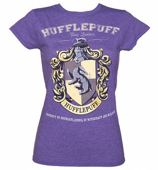 Women's Heather Purple Harry Potter Hufflepuff Team Quidditch T-Shirt
