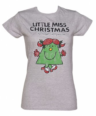 Women's Grey Little Miss Christmas T-Shirt