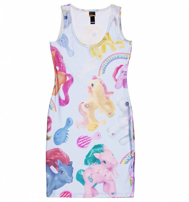 Women's My Little Pony All Over Print Bodycon Dress