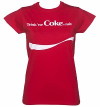 Personalisiertes (Deutsch) Share a Coke Damen T-Shirt, Rot