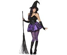 Women's Rebel Toons Wicked Witch Fancy Dress Costume