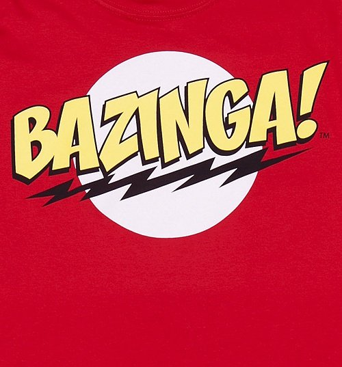 Women's Red Bazinga Big Bang Theory T-Shirt