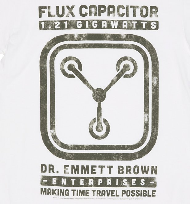 Women's Schematic Back to the Future Flux Capacitor Boyfriend T-Shirt