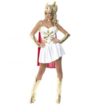 Women's She-Ra Fancy Dress Costume