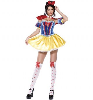 Women's Snow White Fancy Dress Costume