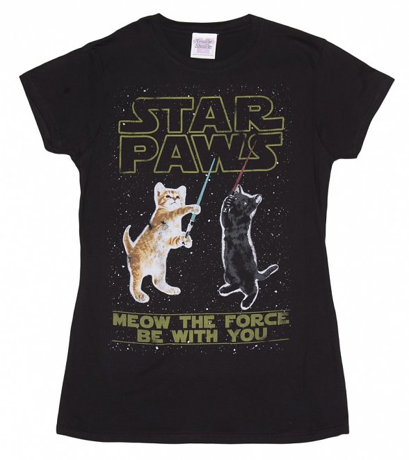 Women's Star Paws Parody Fitted T-Shirt