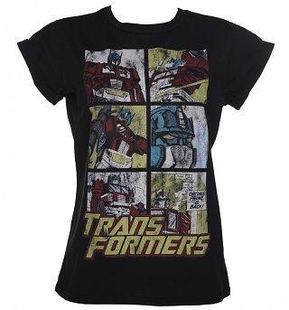Women's Transformers Optimus Prime Comic Boyfriend T-Shirt