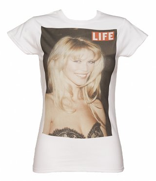 Women's White Claudia Super Model Life Series T-Shirt