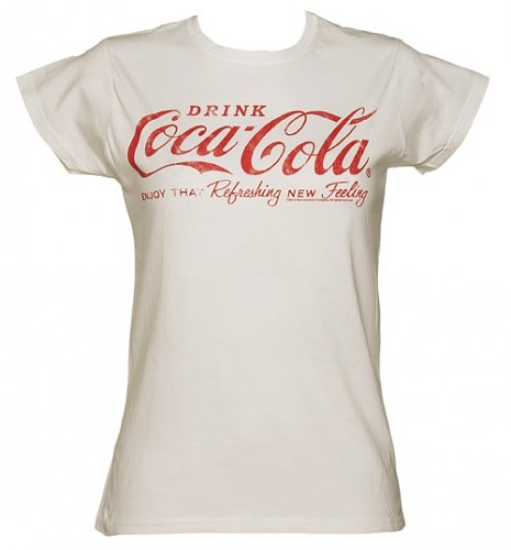 Women's White Coca-Cola Logo T-Shirt
