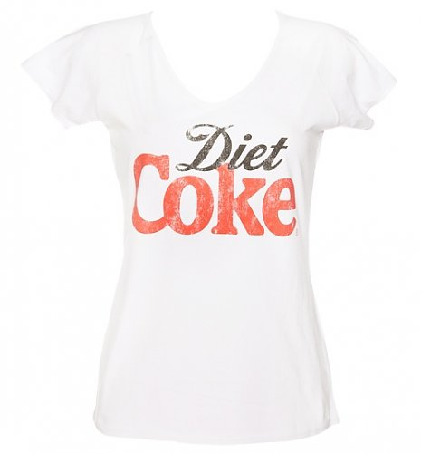Women's White Diet Coke V-Neck T-Shirt