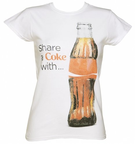 Women's White Share a Coke with Bottle T-Shirt