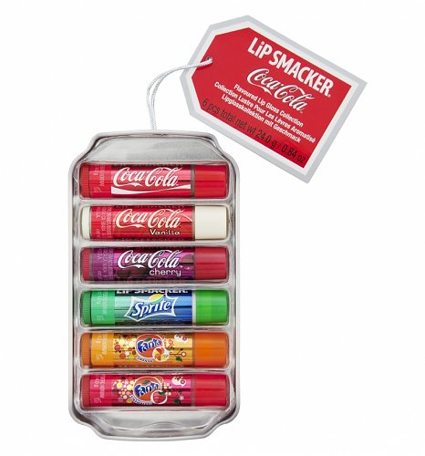 Lip Smacker Coca-Cola Lip Balm 6 Pack Can Gift Set
