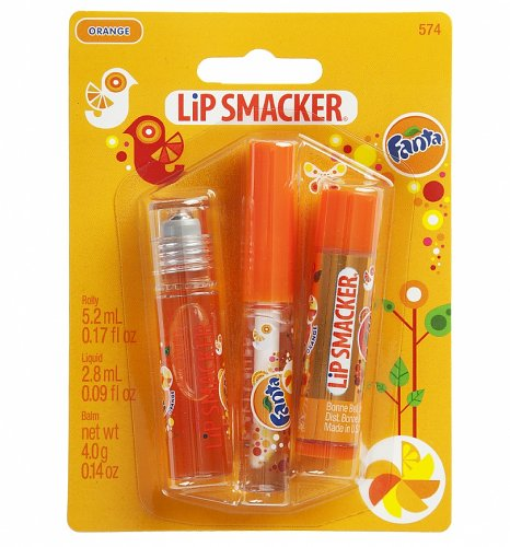 Lip Smacker Original and Best Fanta Orange Lip Balm and Gloss Trio
