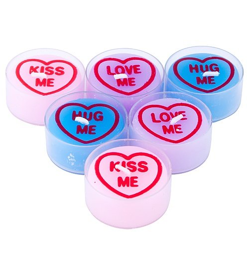 Love Hearts Tea Lights Set